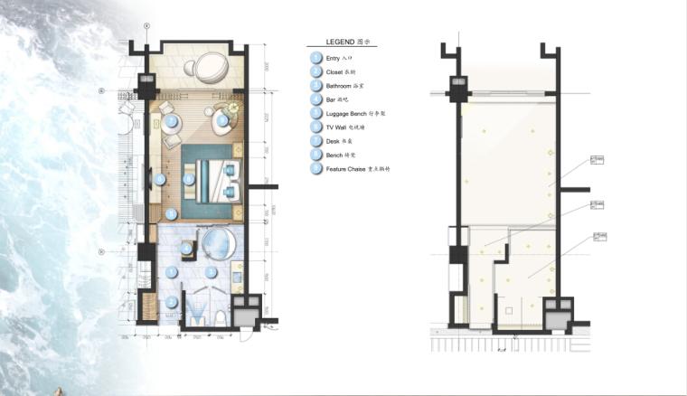 [三亚]某豪华酒店样板房方案设计施工图(含效果图及软装)_1