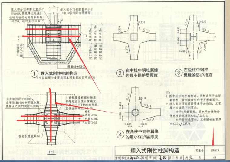 钢框架埋入式基础设计