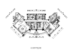 250平米平层全套豪华样板房设计CAD施工图(含效果图)