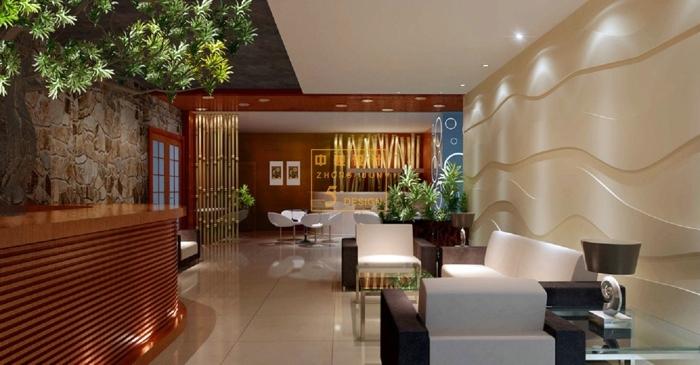 美式风格spa会所设计-大厅空间设计效果图.jpg
