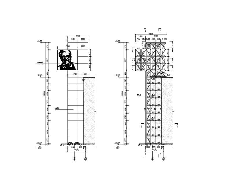 钢结构设计说明图纸目录查看详情立即下载三面网架广告牌施工图图片