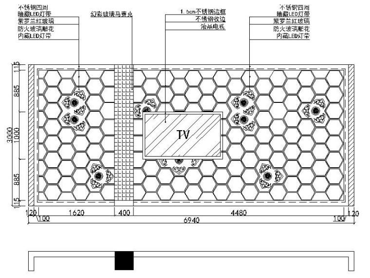 [北京]时尚个性新锐量版式KTV室内设计施工图_5