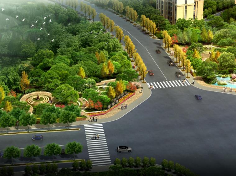 [四川]成都锦江区川师西环线道路节点公园景观方案(PDF+16页)