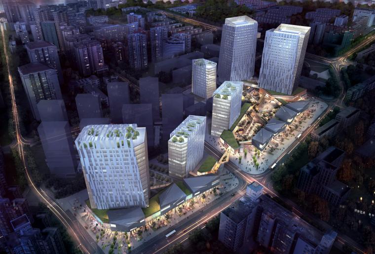 ua建筑公司文本资料下载-[上海]保利绿色节能城市综合体/英国UA(PDF)