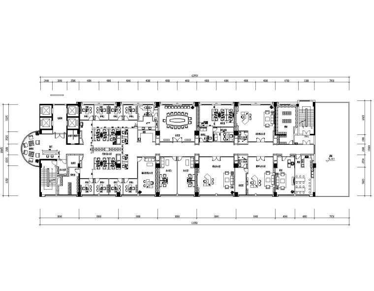 现代风格-办公楼装修设计施工图+效果图