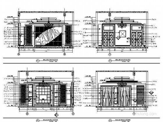 [苏州]奢华欧式风格商务会所四层卧室休息区室内装修图(含效果)小客厅立面