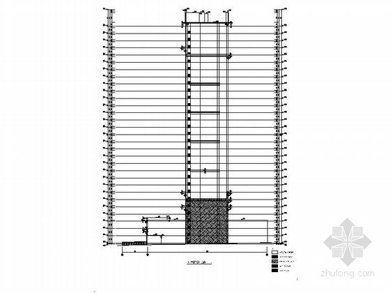 [安徽]30层现代风格住宅建筑施工图(棚户区改造)-30层现代风格住宅建筑立面图