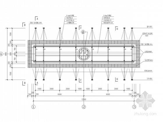单立柱双面型户外广告牌结构施工图