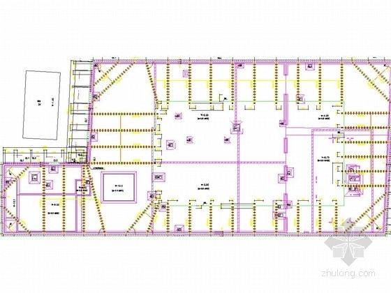 [上海]深基坑排桩及钢支撑支护施工图