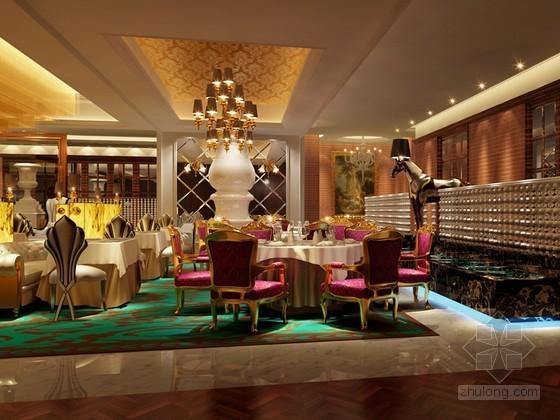 時尚歐式餐廳3D模型下載
