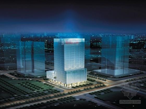 [深圳]现代风格超高层玻璃幕墙办公楼设计方案文本