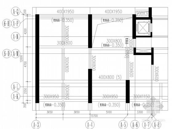 180平商铺改造新增钢结构夹层施工图