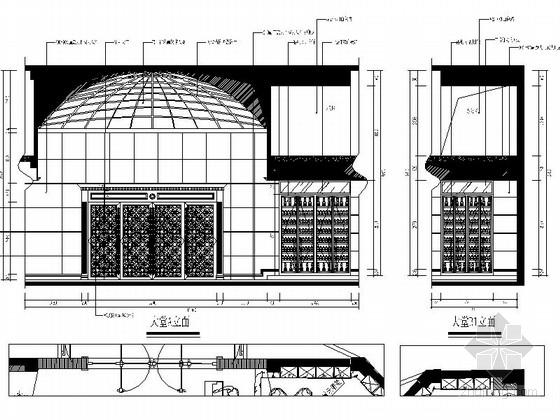 [福建]国际豪华欧式音乐会所设计施工图(含效果)大堂立面图