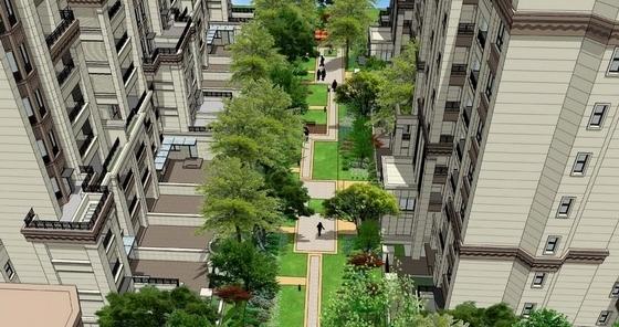 [重庆]简洁大气高层住宅小区景观规划详细设计方案(170页精美图纸)-鸟瞰图