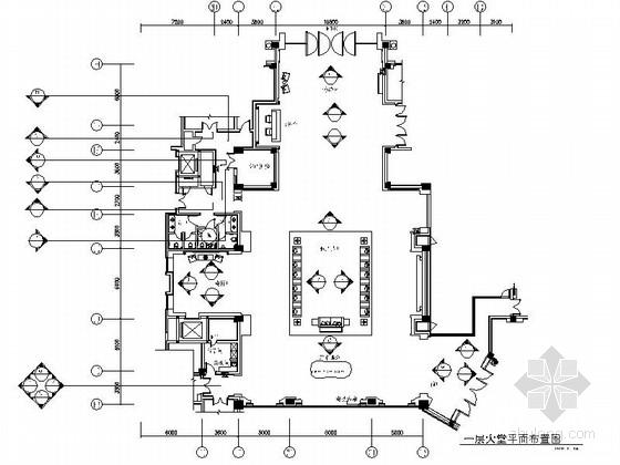 [东莞]度假村高档五星级酒店大堂装修施工图(含效果)
