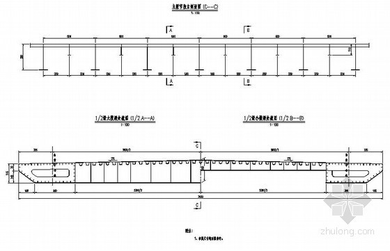 U型桥台锚杆加固资料下载-海口市某自锚式悬索大桥方案设计图纸