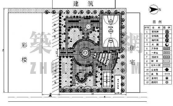 某住宅区中心广场设计