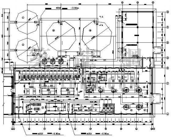 锅炉房给水系统平面布置图