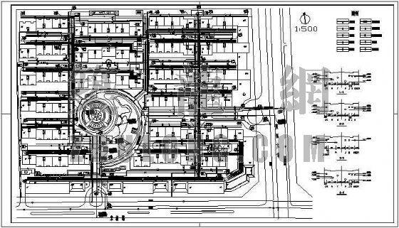 某小区住宅综合管网方案图