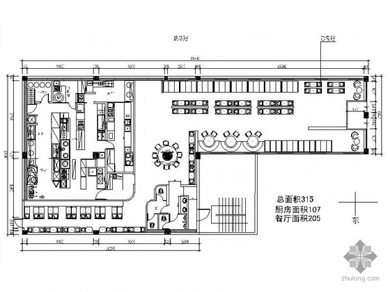 [唐山]某中式快餐厅装修图