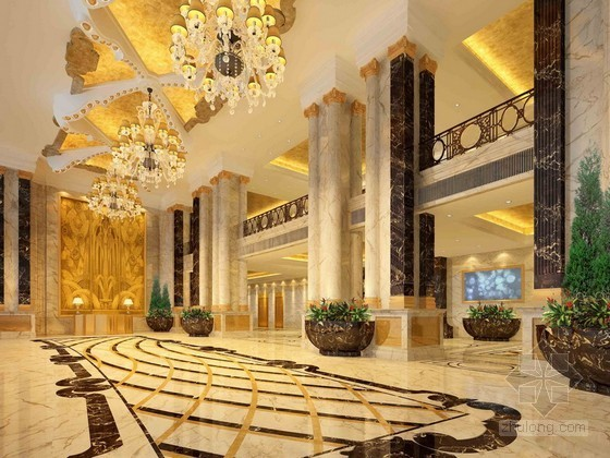 豪华酒店大堂3d模型