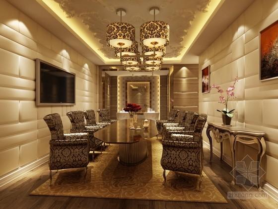 豪华VIP餐厅包厢3d模型下载