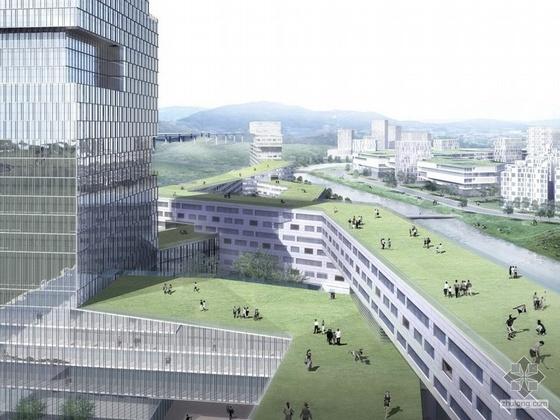 南方某科技大学校园规划与建筑概念设计方案投标方案二(含PPT)