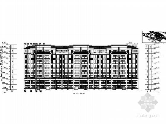 古典风格住宅区规划设计立面图