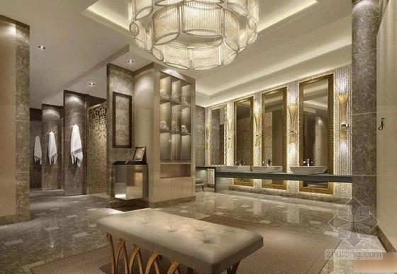 [上海]生态商务区典雅豪华休闲会所设计方案卡座区效果图