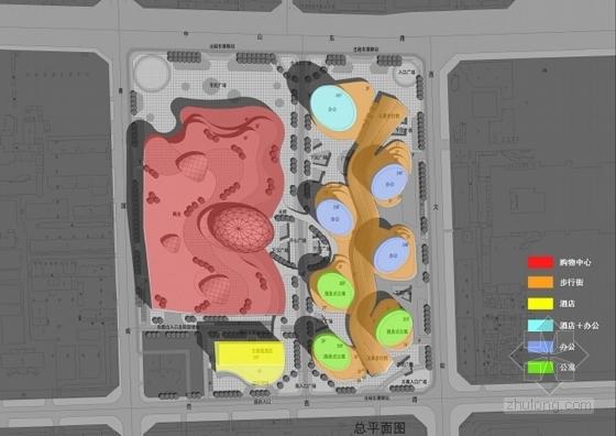 现代风格城市商业综合体设计方案分析图