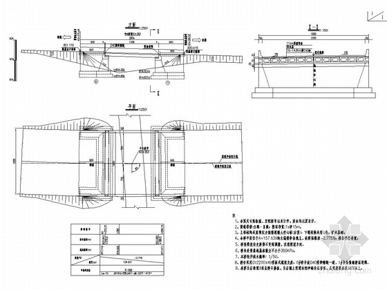 1x13m后张法预应力混凝土简支空心板桥设计套图(30张)