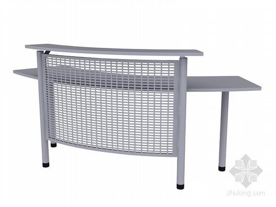 金属办公桌3D模型下载