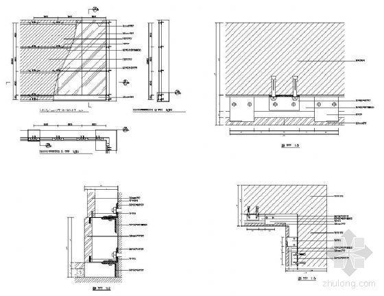 结构钢筋砼墙体饰面干挂石材详图