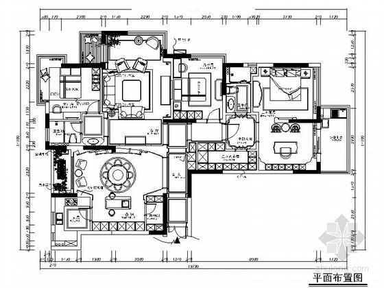 [浙江]精品欧式风格别墅室内装修施工图(含效果)