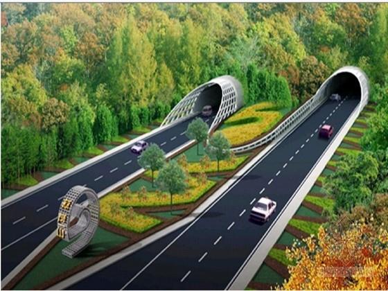 单洞三车道分离式隧道工程施工图56张(复合式衬砌 国际知名公司)
