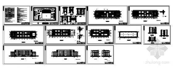 四川省某学校附属学院五层教学楼建筑施工图-4