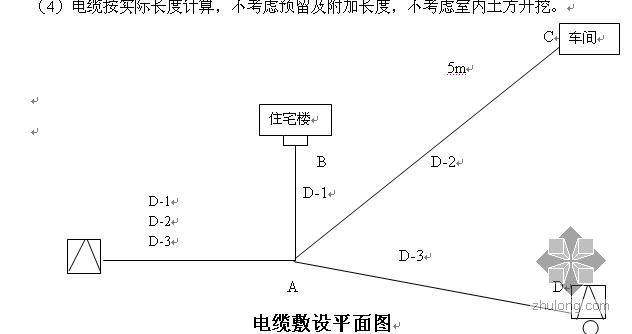 电缆工程量计算习题
