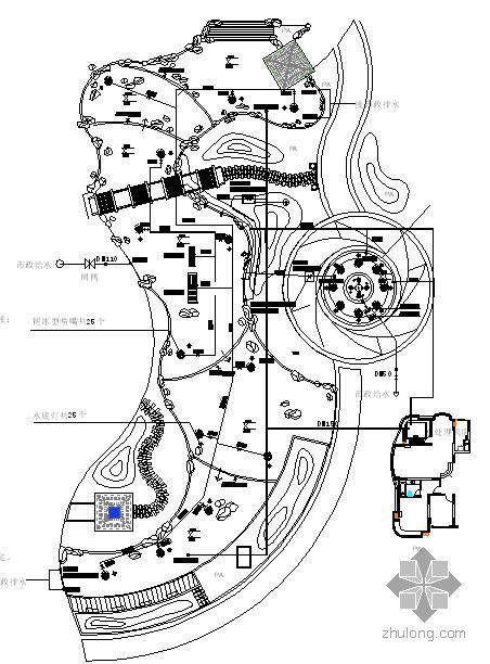花园景观池总图