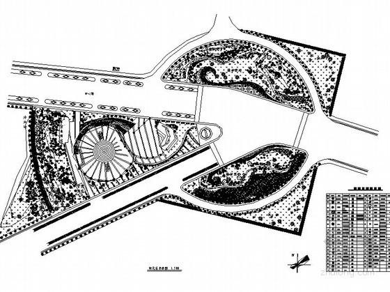 某广场及中心路景观绿化工程全套施工图