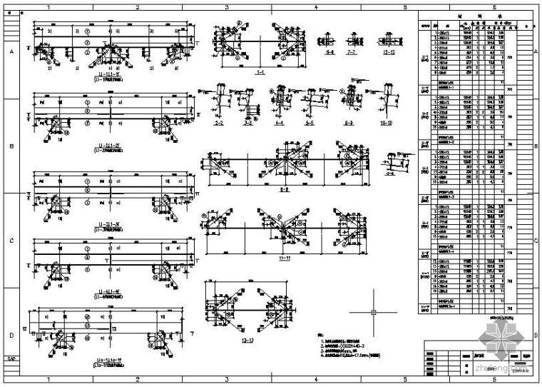 某屋面系统檩条构造详图