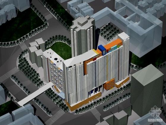 [广州]某滨江花园住宅建筑方案文本及CAD扩初(带设计说明及效果图)