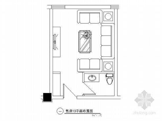 欧式娱乐会所资料下载-某欧式娱乐会所包房13装修图