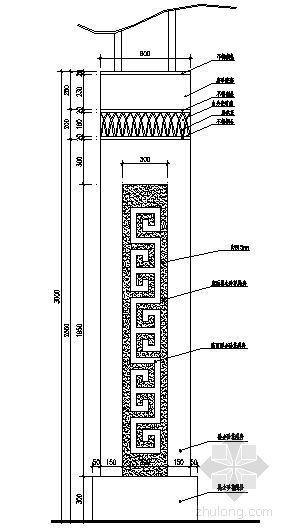 景观灯柱详图