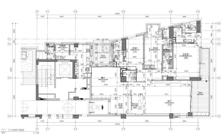 [李玮珉]三亚海棠湾四季公寓现代风格样板间室内装修施工图+效果图+物料(CAD、JPG、PDF)