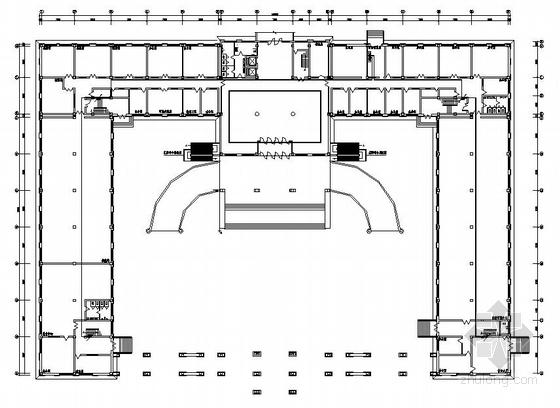某六层政务中心应急消防平面图