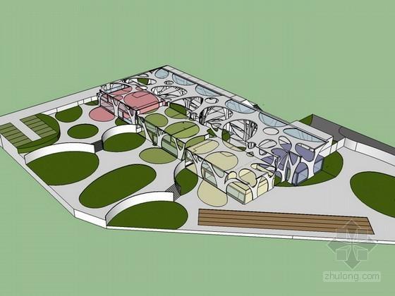 幼儿园方案设计sketchup模型下载