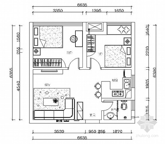 [原创]长沙小居室方案设计图纸(含效果图)