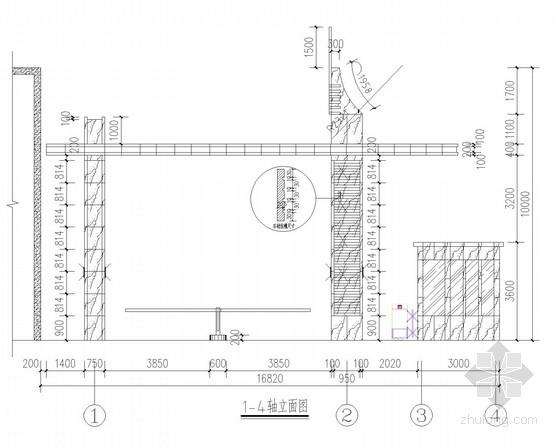 入口玻璃雨篷结构施工图