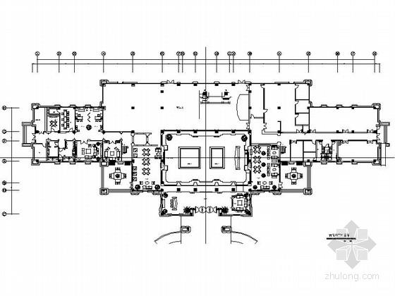 [武汉]欧式豪华宫廷气息售楼处施工图(含高清效果图)
