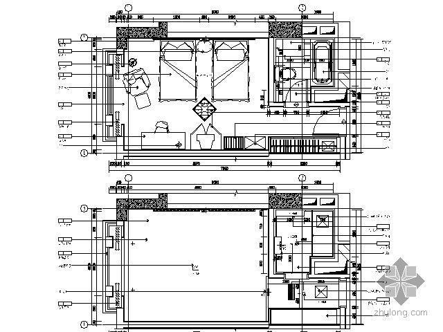 酒店标准间平面图Ⅱ